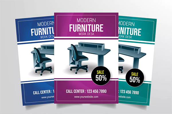 Modern Furniture Work Desk Flyer Template