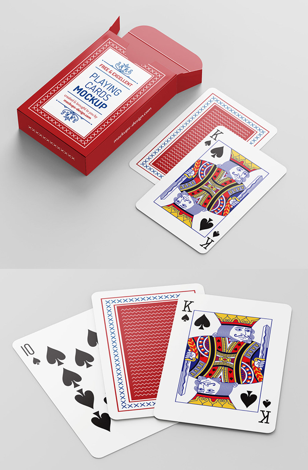 Free playing cards mockup