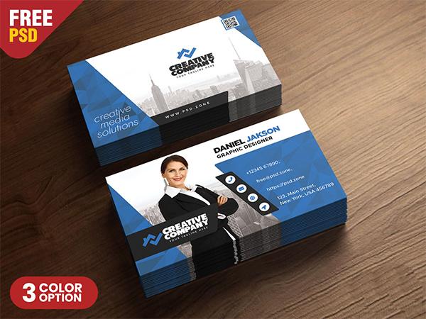 Horizontal Company Business Card PSD
