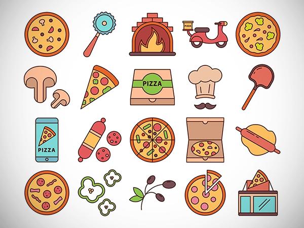 Pizza Vector Free Icon Set