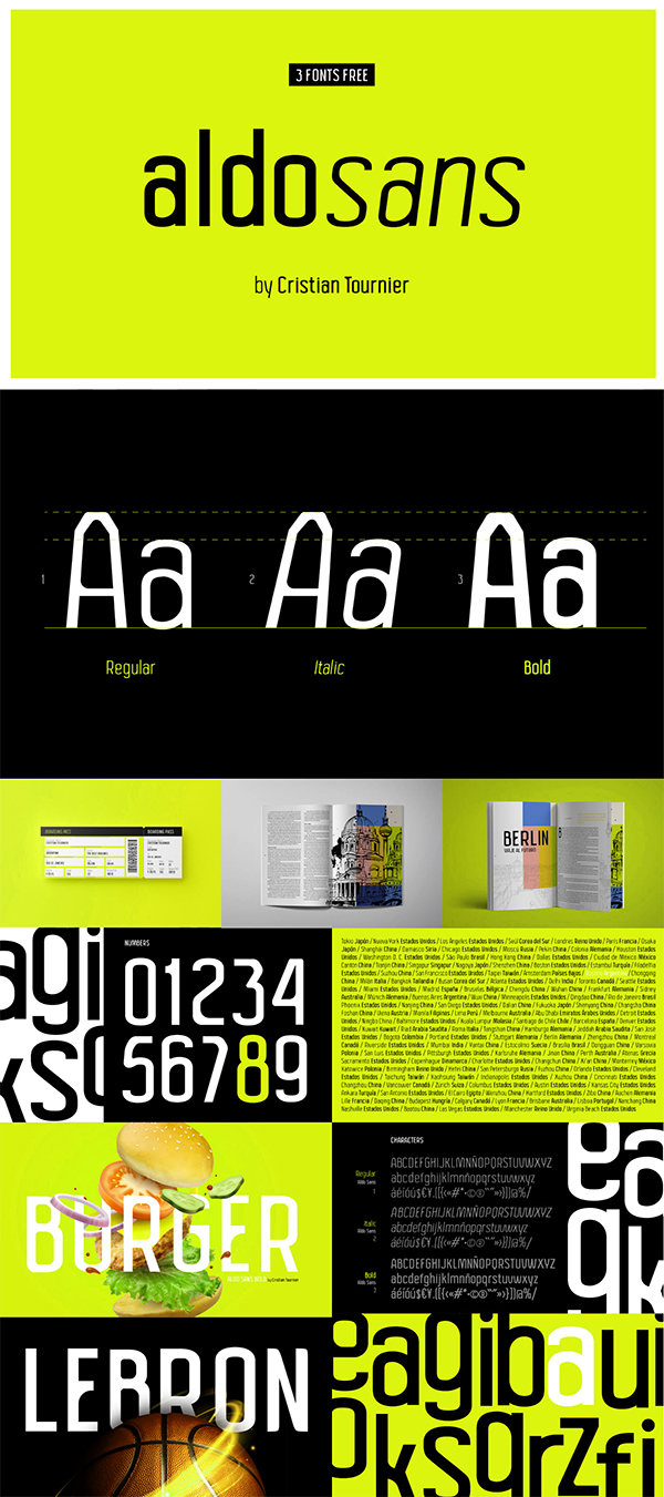 Modern Condensed Family Free Font
