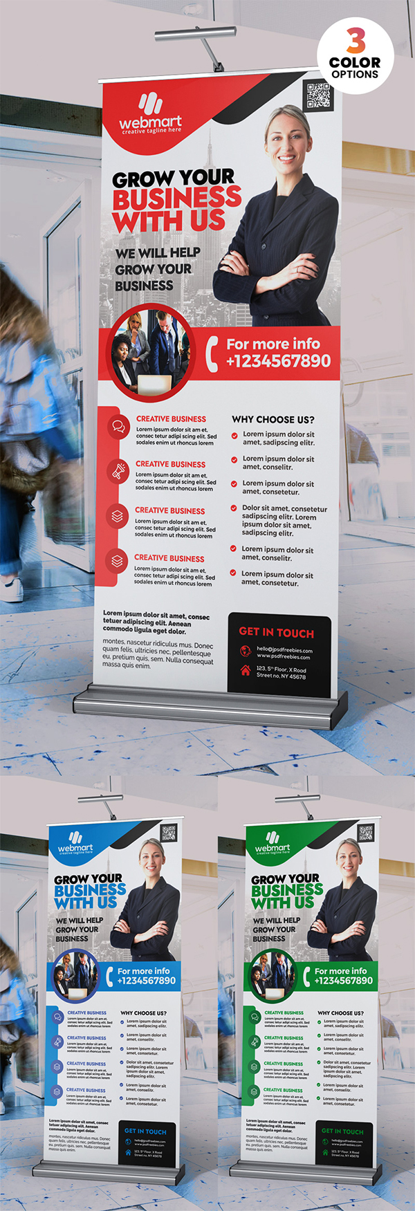 PSD Corporate Rollup Banner Design