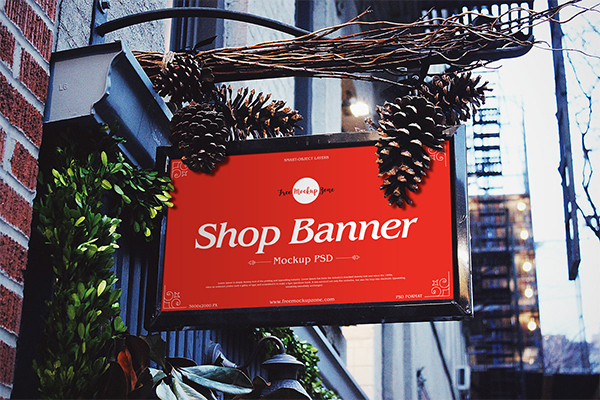 Free Brand Shop Banner Mockup