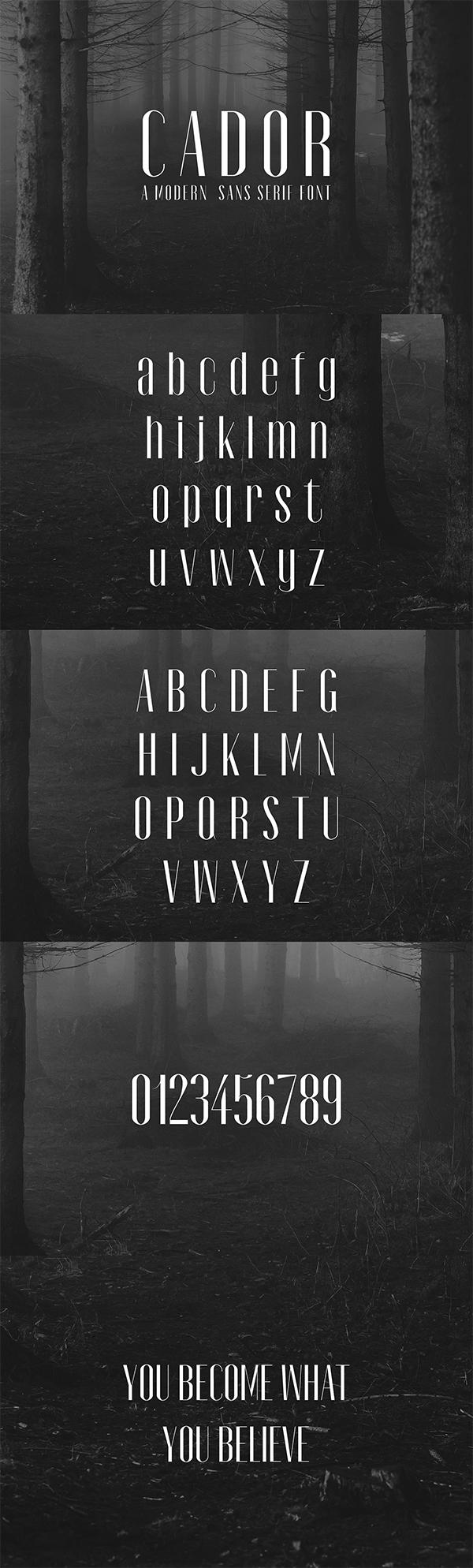 Cador Sans Serif Free Font