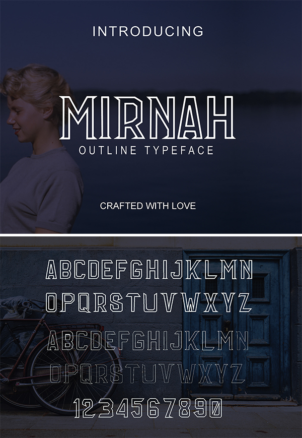Mirnah Outline Free Font