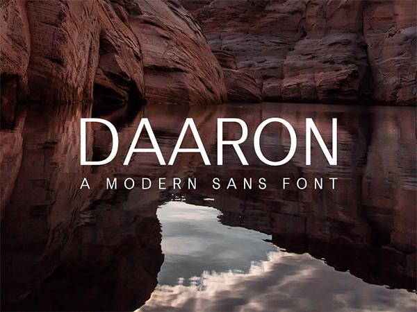 Daaron Sans Serif Free Font