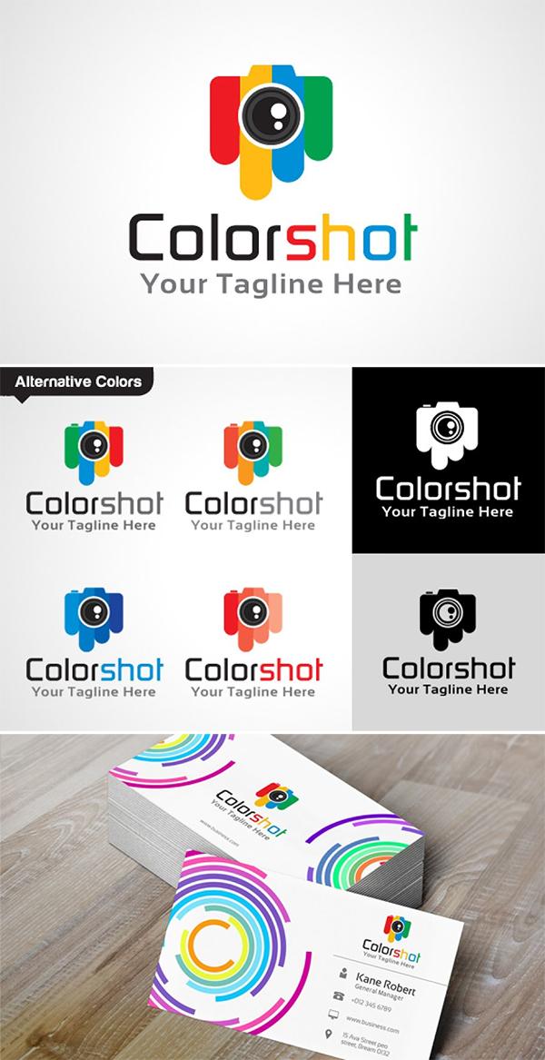 Color Shot Logo Template