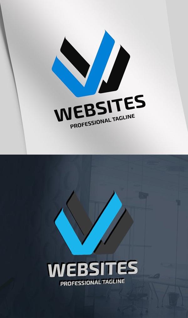 Web Sites Letter W Logo