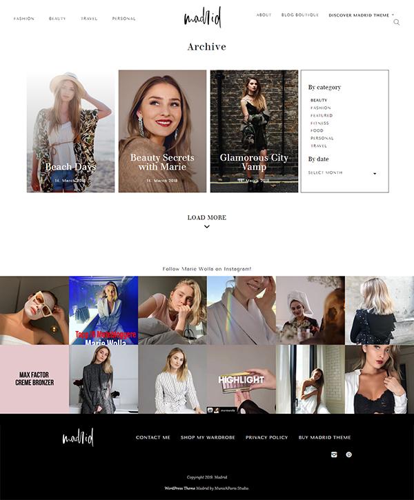 Fashion Magazine Theme - Madrid
