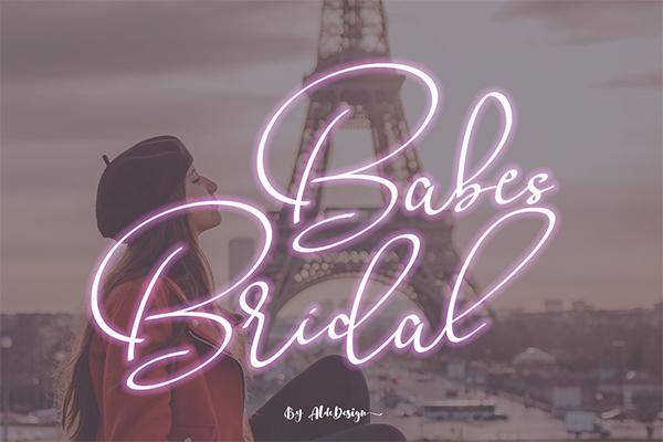 Babes & Bridal | Beautiful Script