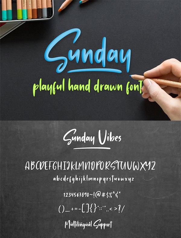 Sunday Vibes - Playful Font