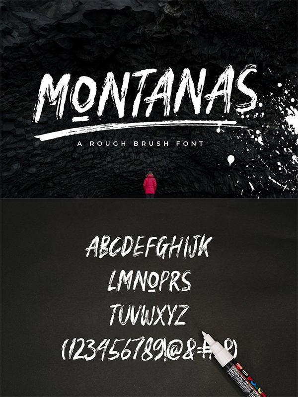 Montanas Brush Font