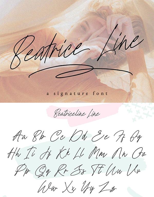 Beatriceline Signature Font