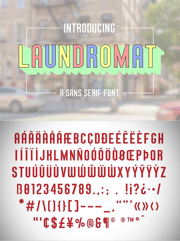 Laundromat Typeface