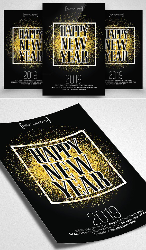 Cool New Year Party Flyer