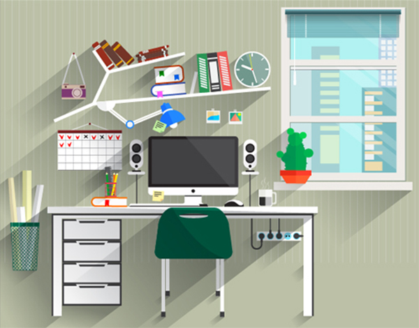 Create a Flat Style Work Space