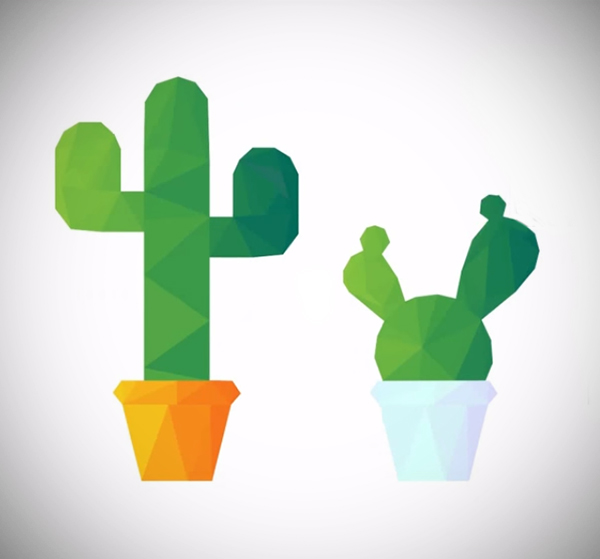 Illustration: Design Low Poly Cactus