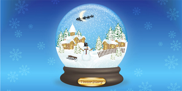 How to Create Vector Snow Globe