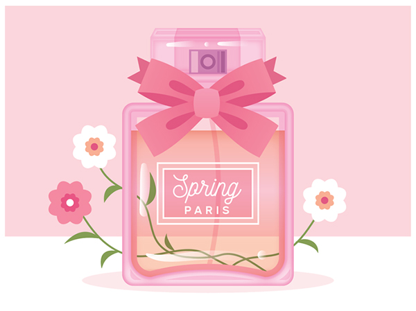 Illustration: Draw a Spring-Time Perfume Bottle