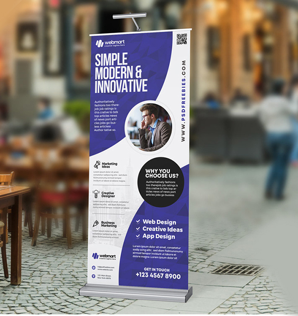 PSD Professional Roll Up Banner Design