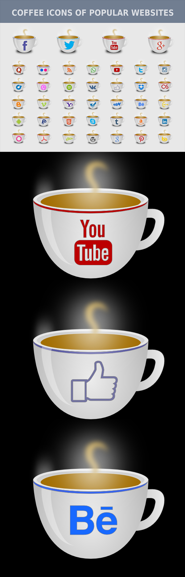 Social Media Coffee Icons