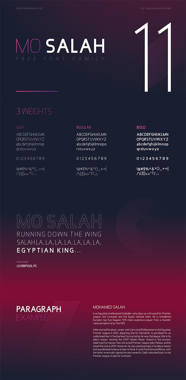MO Salah Family Free Font