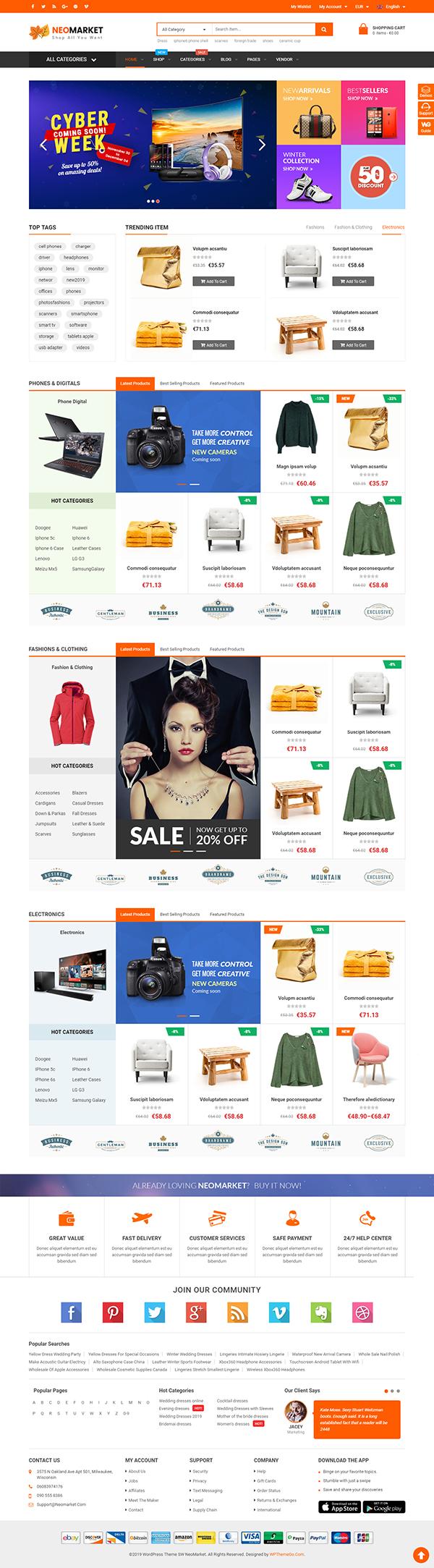 NeoMarket - Multi Vendor WooCommerce