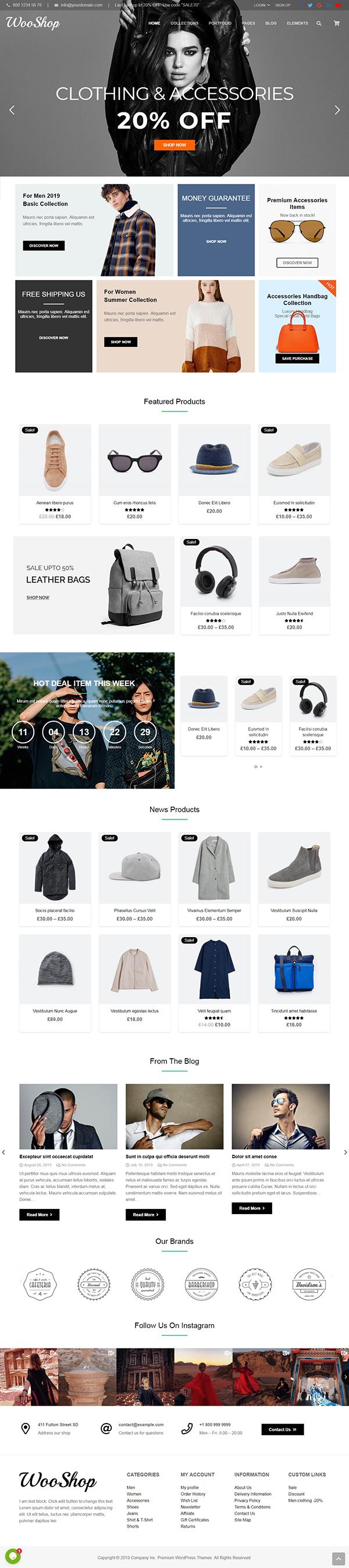 WooShop – Fashion eCommerce Theme