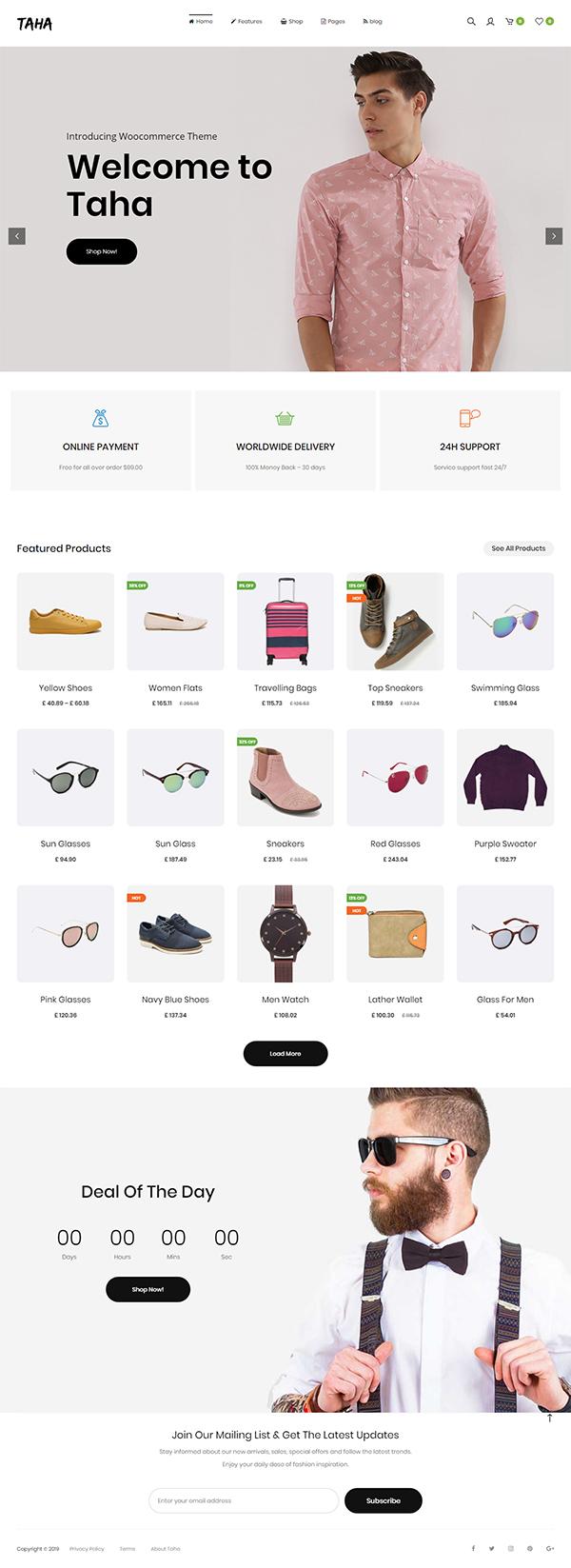 Taha — WooCommerce WordPress Theme