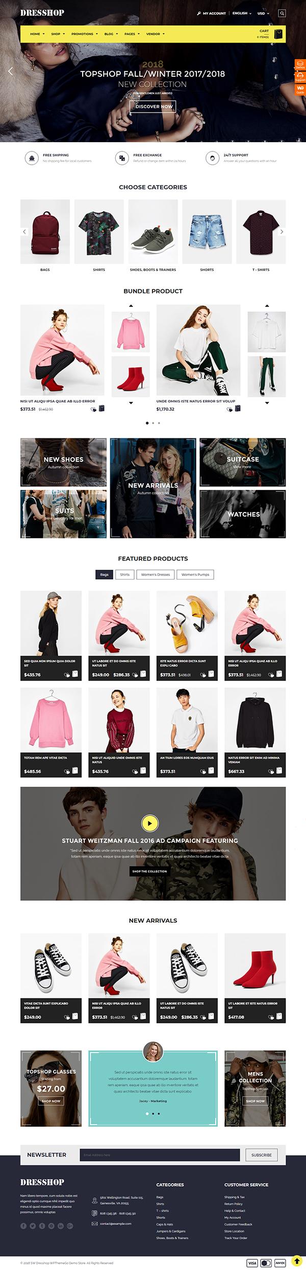 DresShop - Fashion WooCommerce Theme
