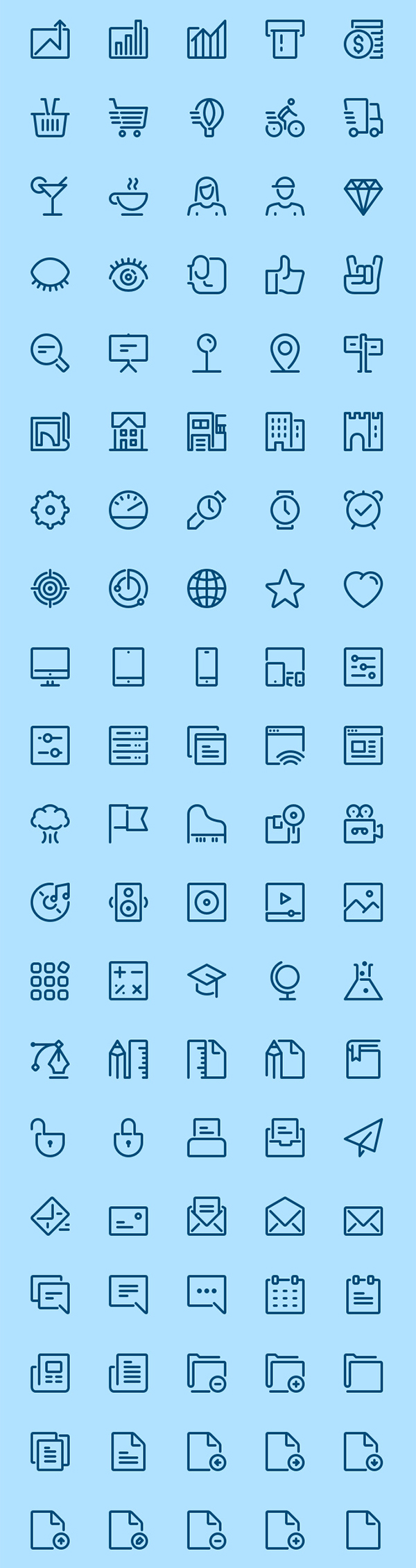 100 Free Airline Icons
