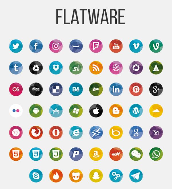 Free Flatware Social Icons