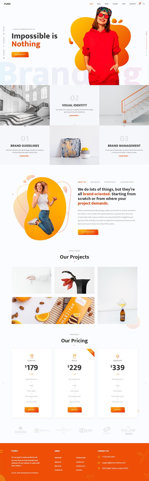 Furo - A Creative MultiPurpose WordPress Theme