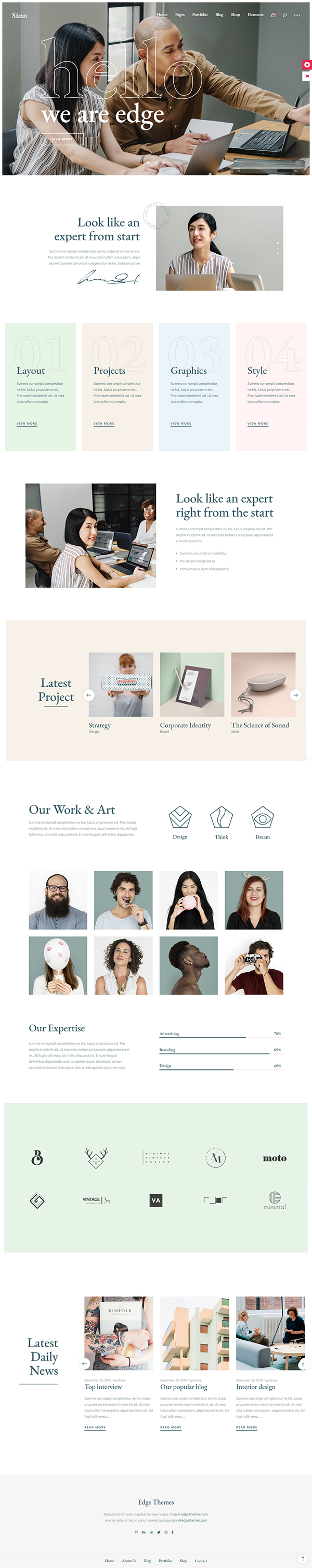 Sånn - Contemporary Creative Agency Theme