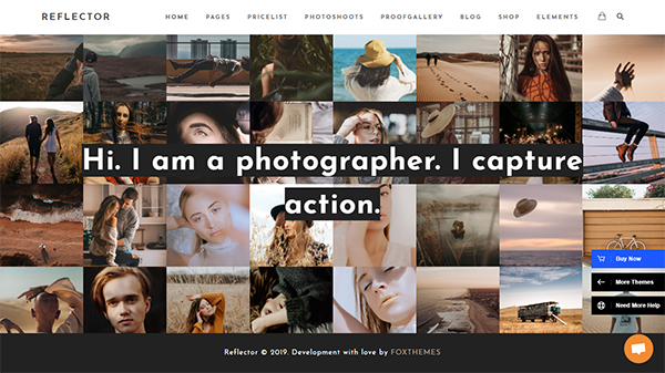 Photography Reflector - Photography WordPress for Photography