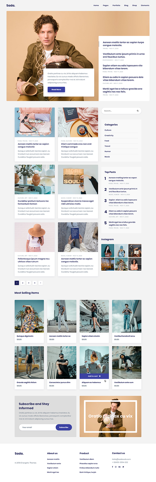 Sada - A WordPress Theme For Blog & Shop