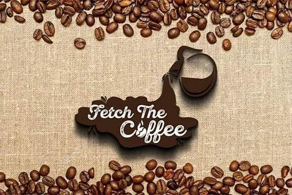 Creative coffee brand logo