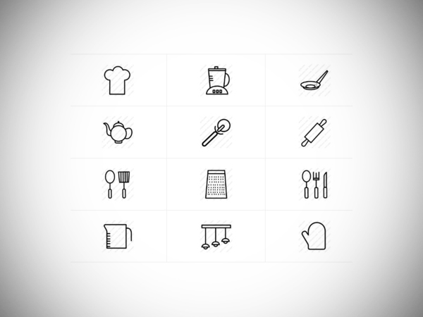 Royalty Free Kitchen Vector Icons
