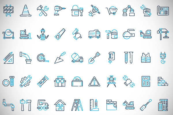 50 Construction Icon Set Free Download
