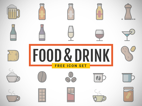Food Drink Icons Free