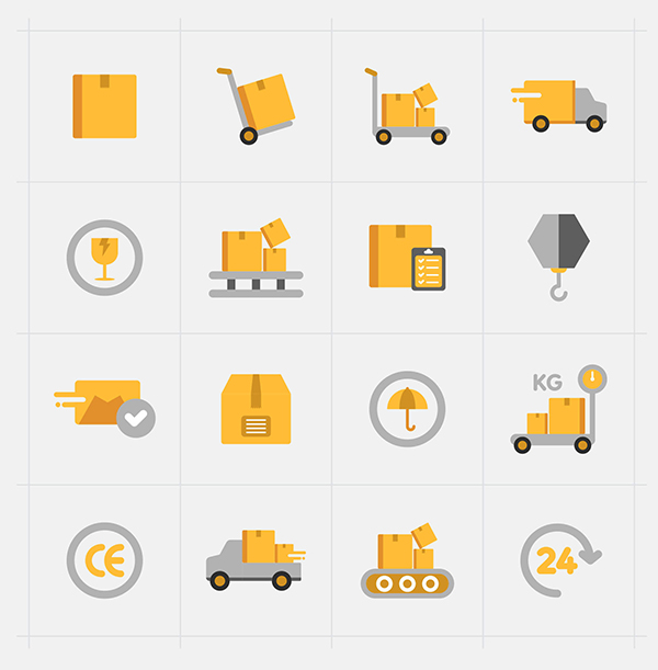 16 Delivery Vector Icons (Ai)