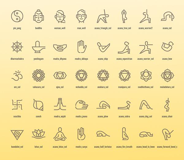 Free Yoga Icon Set