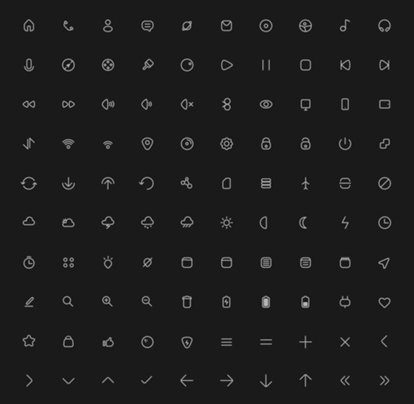 Free 100 Essential Icons