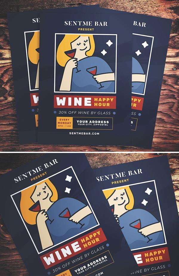 Happy Hour Wine Flyer