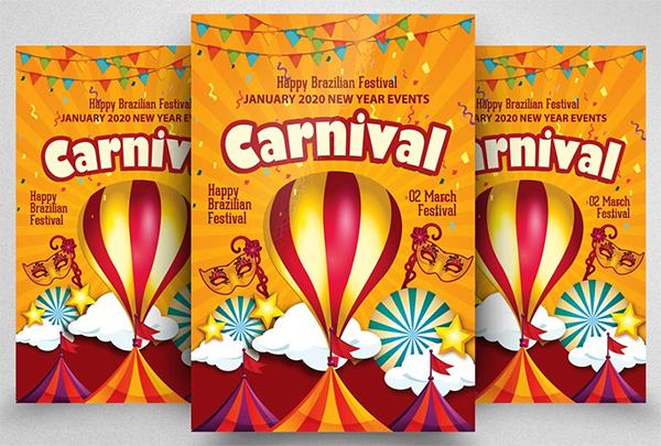 Happy Carnival Festival Flyer Psd