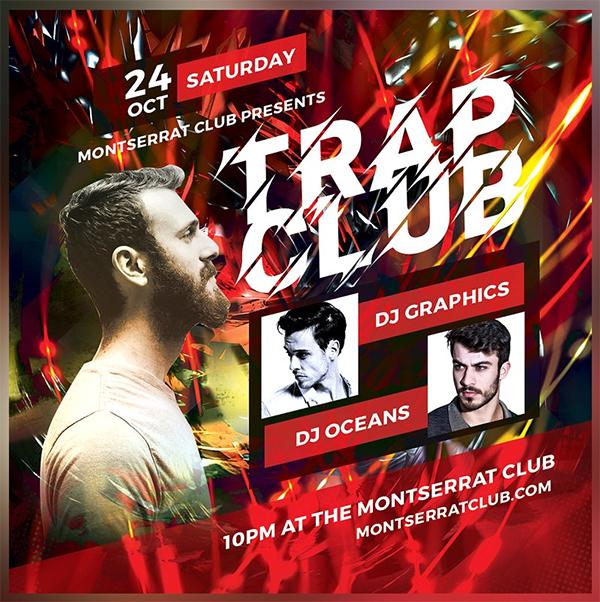Trance Club Flyer Template