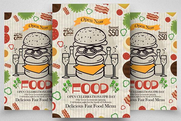 Fast Food Restaurant Flyer Template