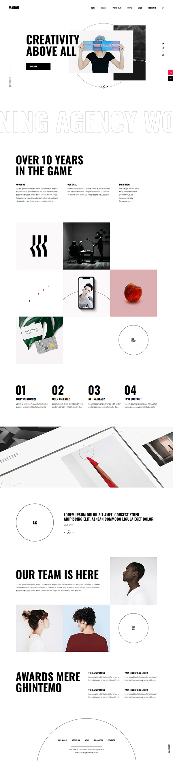 Manon - Modern Portfolio and Agency Theme