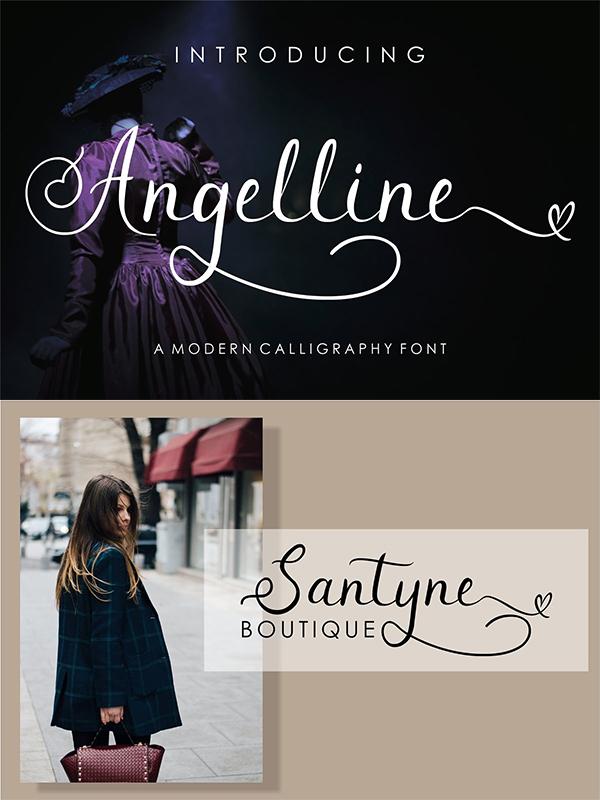 Angelline // Script Font