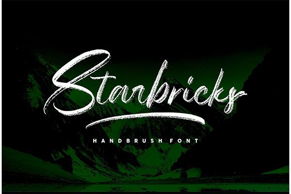 Starbricks - Handbrush Font